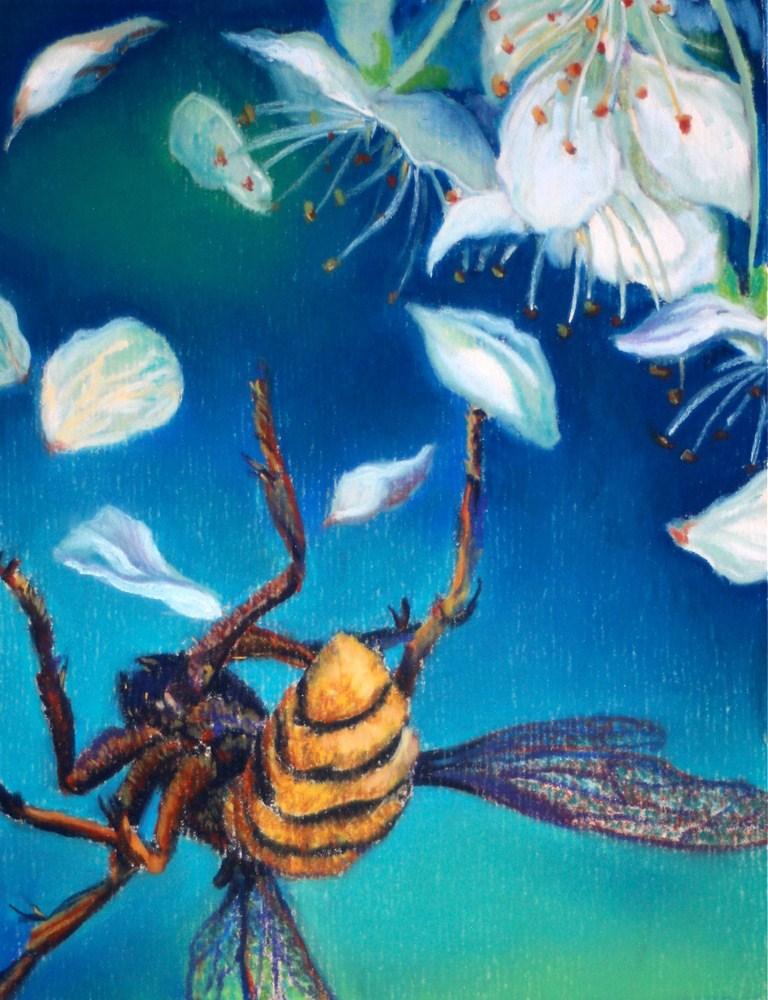 """A Fall From the Blackthorn"" original fine art by Jill Bates"
