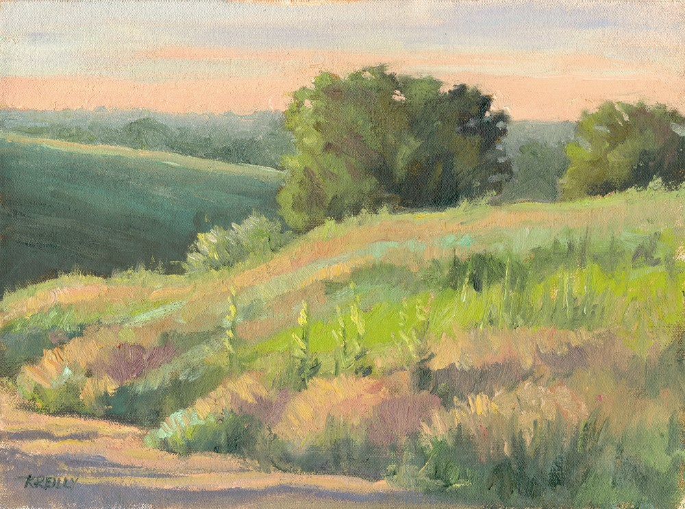 """Morning Hillside"" original fine art by Kath Reilly"