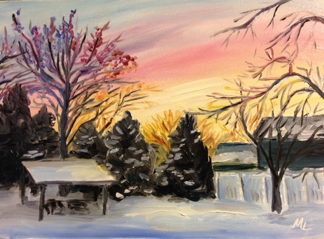 """January Morning"" original fine art by Marjie Laizure"
