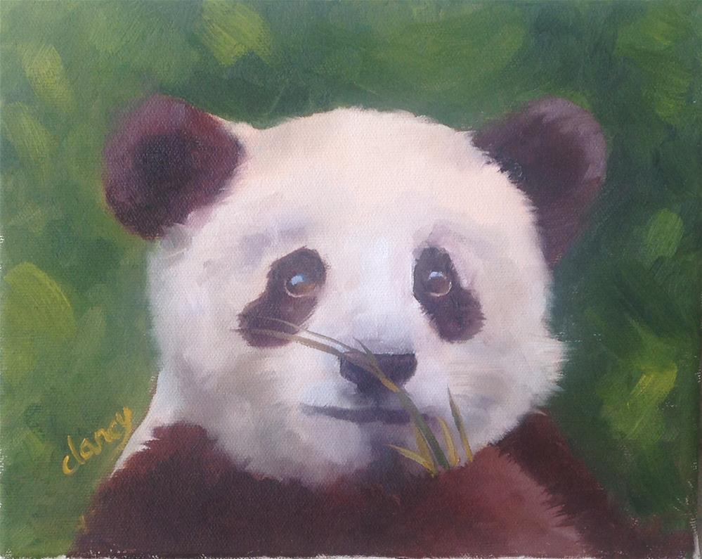 """Bamboo delight"" original fine art by Catherine Clancy"