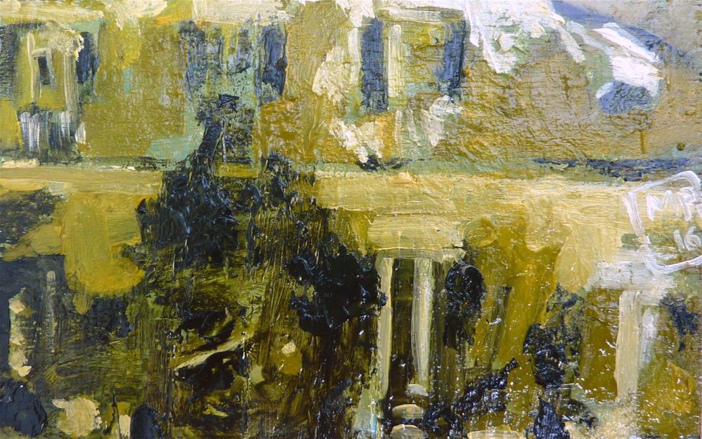"""Hauswand bei Nacht / House at night."" original fine art by Mila Plaickner"