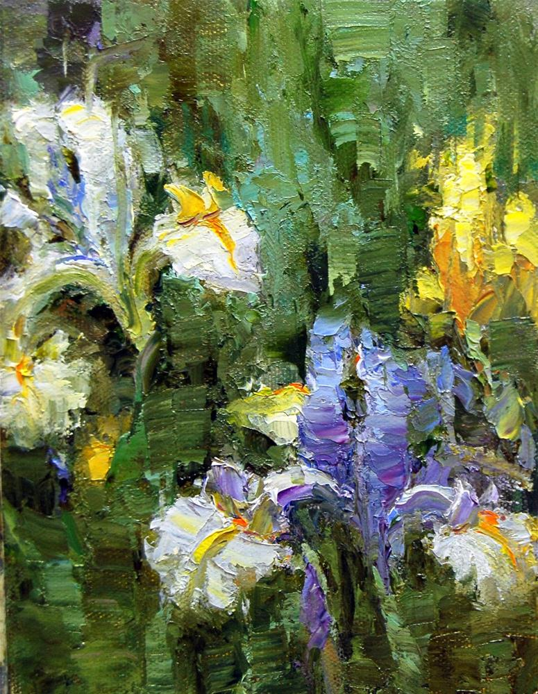 """Iris Time"" original fine art by Julie Ford Oliver"
