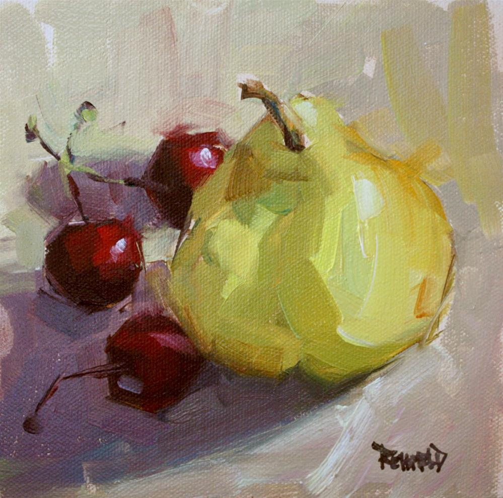 """Argentinian Pear"" original fine art by Cathleen Rehfeld"