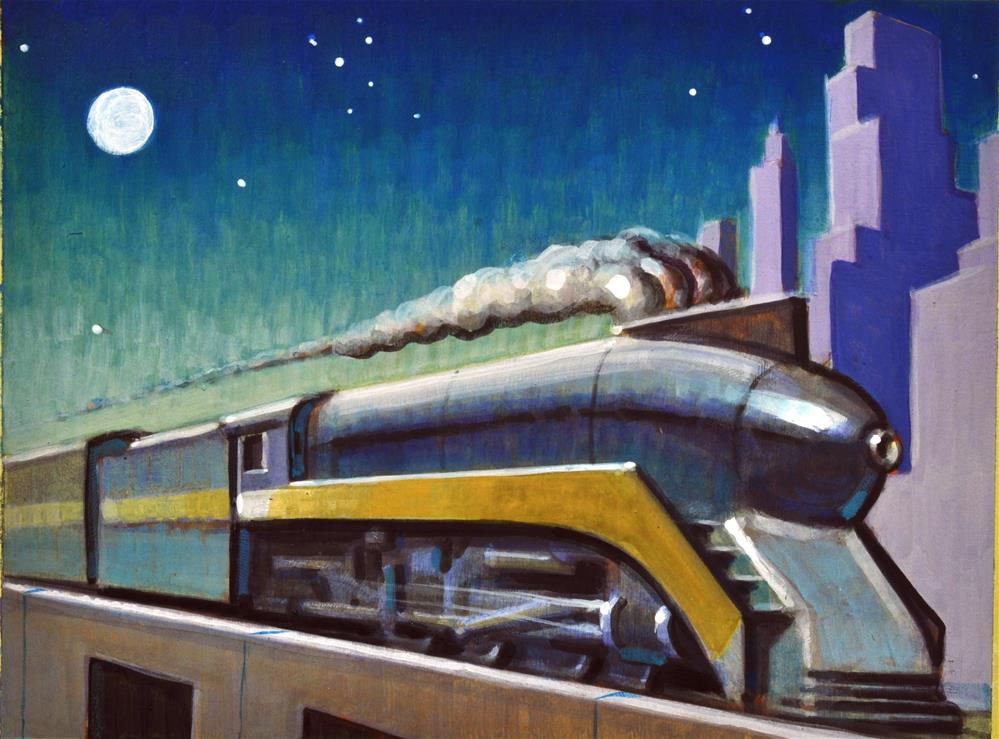 """Locomotive"" original fine art by Robert LaDuke"