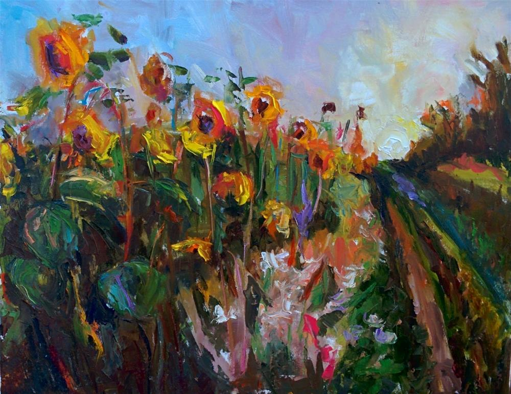 """Sunny Flowers"" original fine art by pepa sand"
