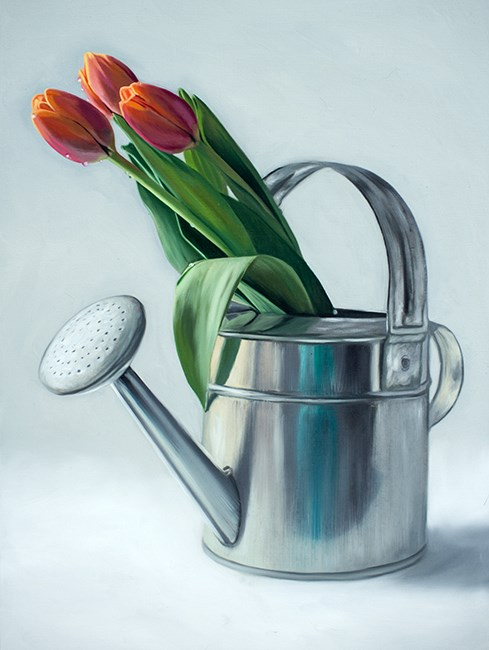 """Spring Tulips"" original fine art by Lauren Pretorius"