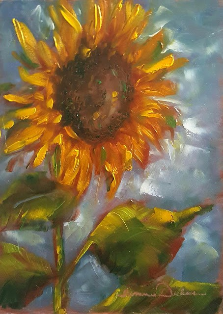 """Sunflower Solo"" original fine art by Tammie Dickerson"