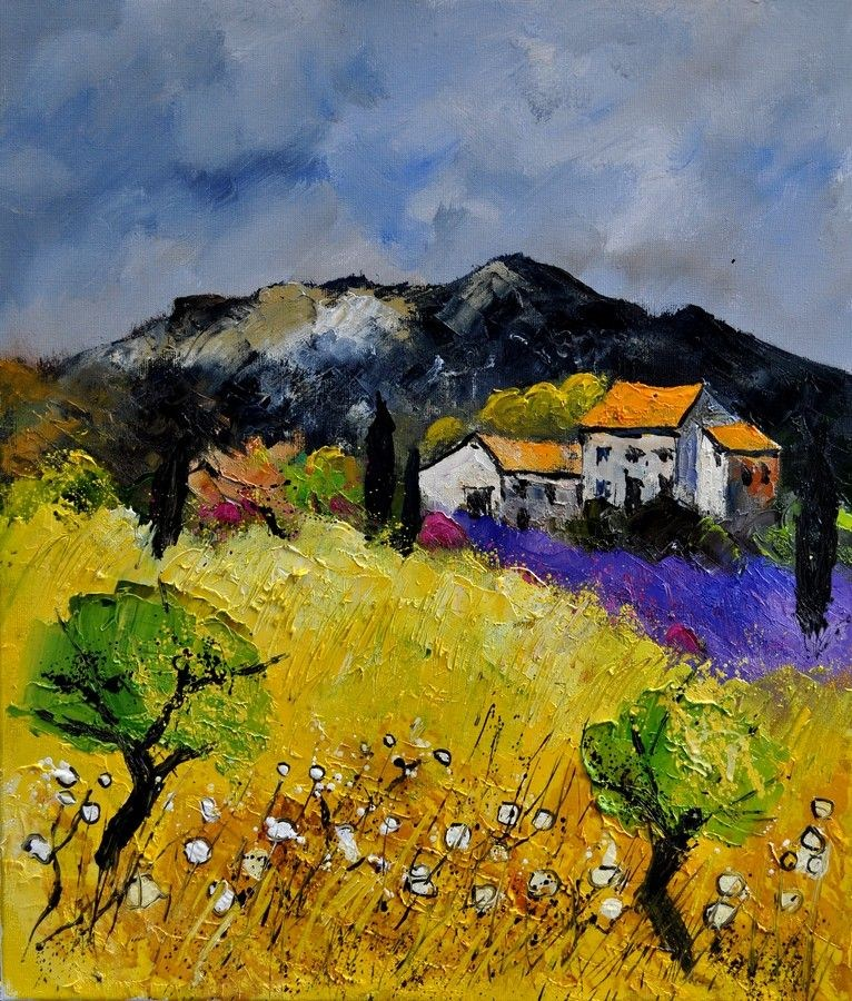 """Provence 672110"" original fine art by Pol Ledent"