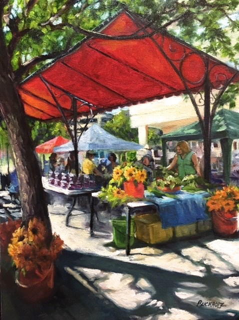 """Market Activity"" original fine art by Terri Buchholz"