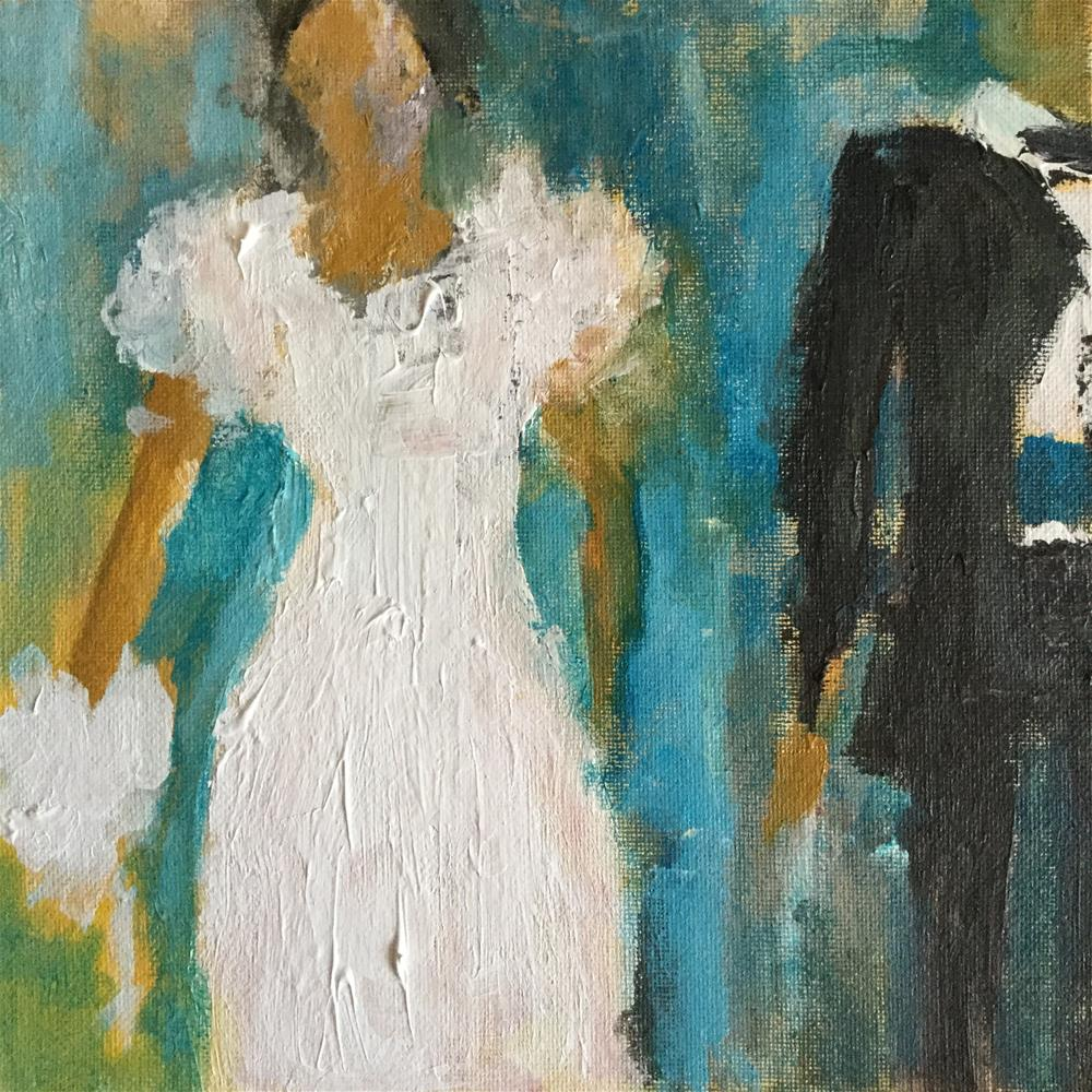 """Never the bridesmaid..always the bride"" original fine art by pamela kish"