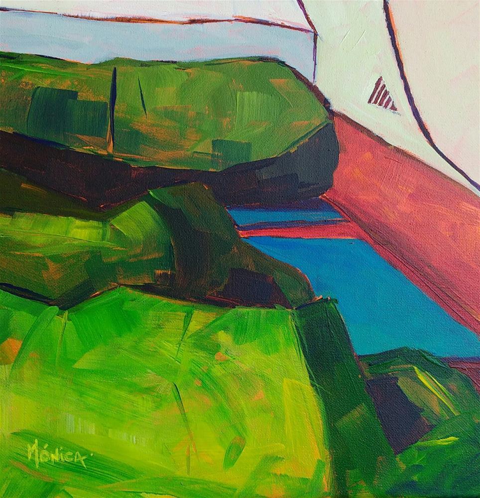 """""""Camping"""" original fine art by Mónica Linares"""