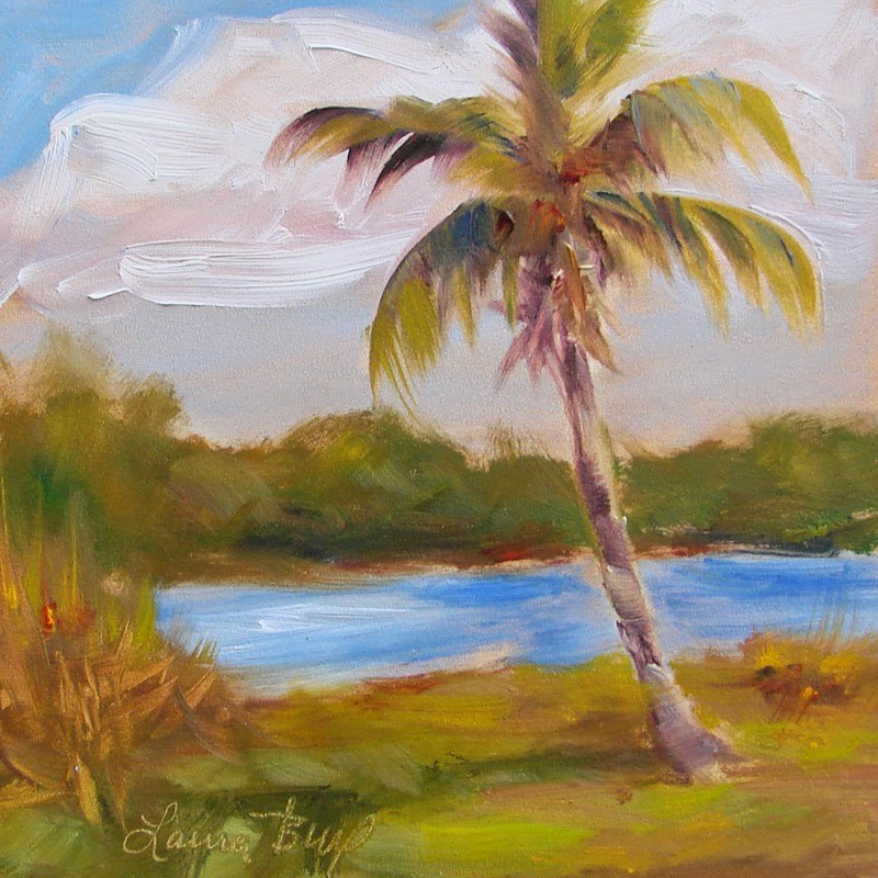 """Lone Palm 222"" original fine art by Laura  Buxo"