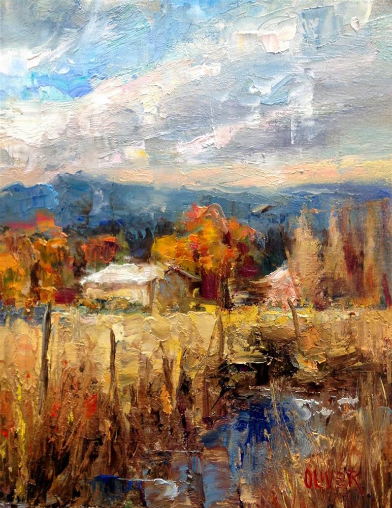 """""""The White Roof"""" original fine art by Julie Ford Oliver"""