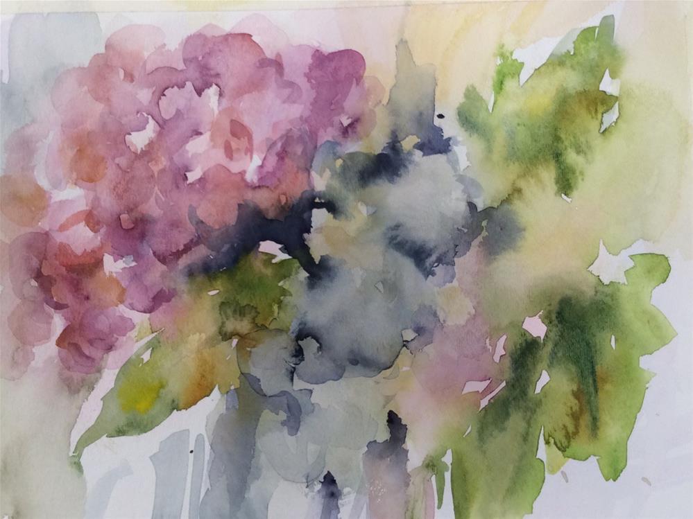"""Hydrangeas"" original fine art by Molly Rohrscheib Hathaway"