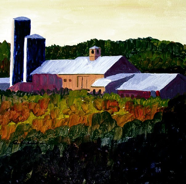 """Barn #11"" original fine art by Anna Vreman"