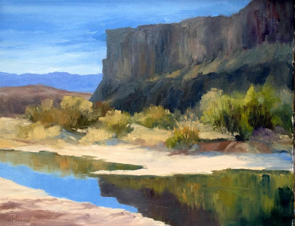 """ACROSS THE RIO GRANDE"" original fine art by Tina Bohlman"