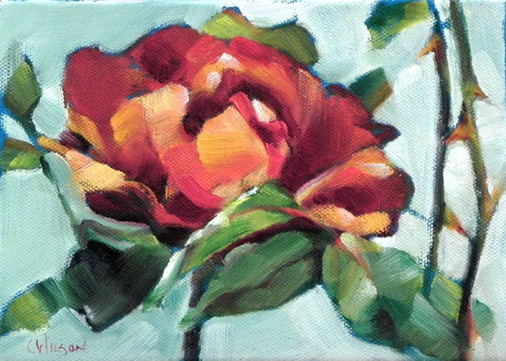 """Red Rose"" original fine art by Cheryl Wilson"
