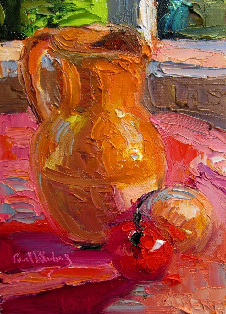 """Jug, Tomato, Onion"" original fine art by Carol Steinberg"