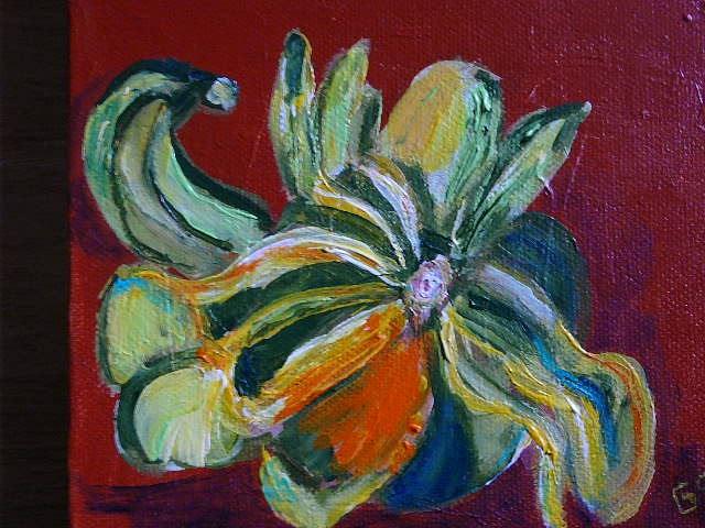 """""""Thanksgiving Gourd"""" original fine art by Gabriella Spiegel"""