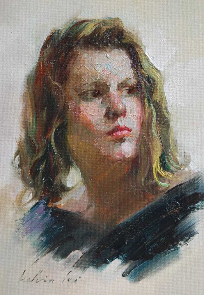 Study original fine art by Kelvin Lei