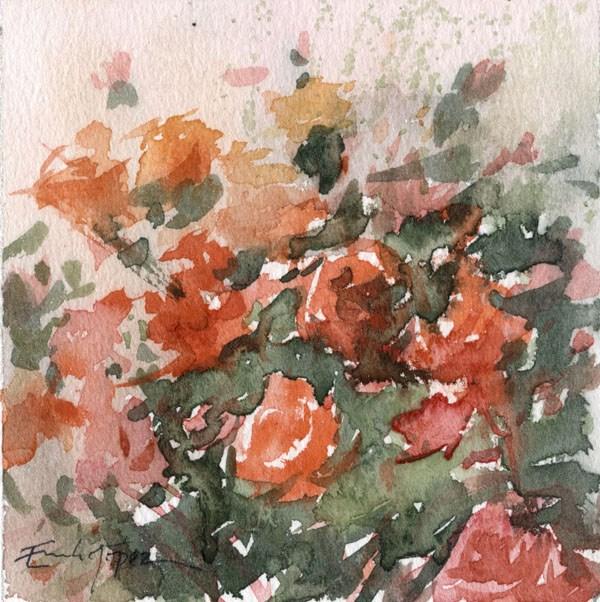 """""""flores 3"""" original fine art by Emilio López"""