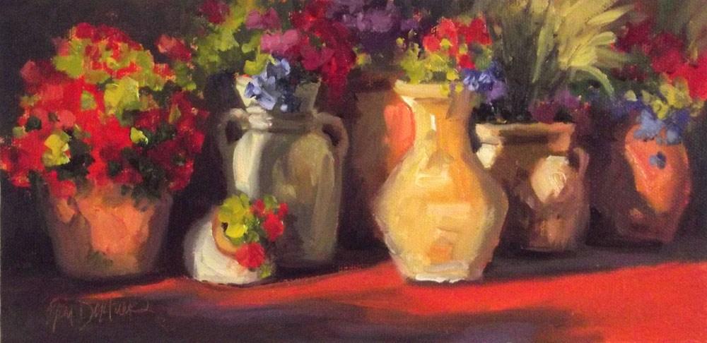 """""""Luminous Line Up"""" original fine art by Erin Dertner"""