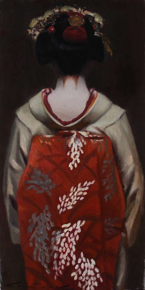 """""""The Scarlet Fringe - (Fuyu)"""" original fine art by Phil Couture"""