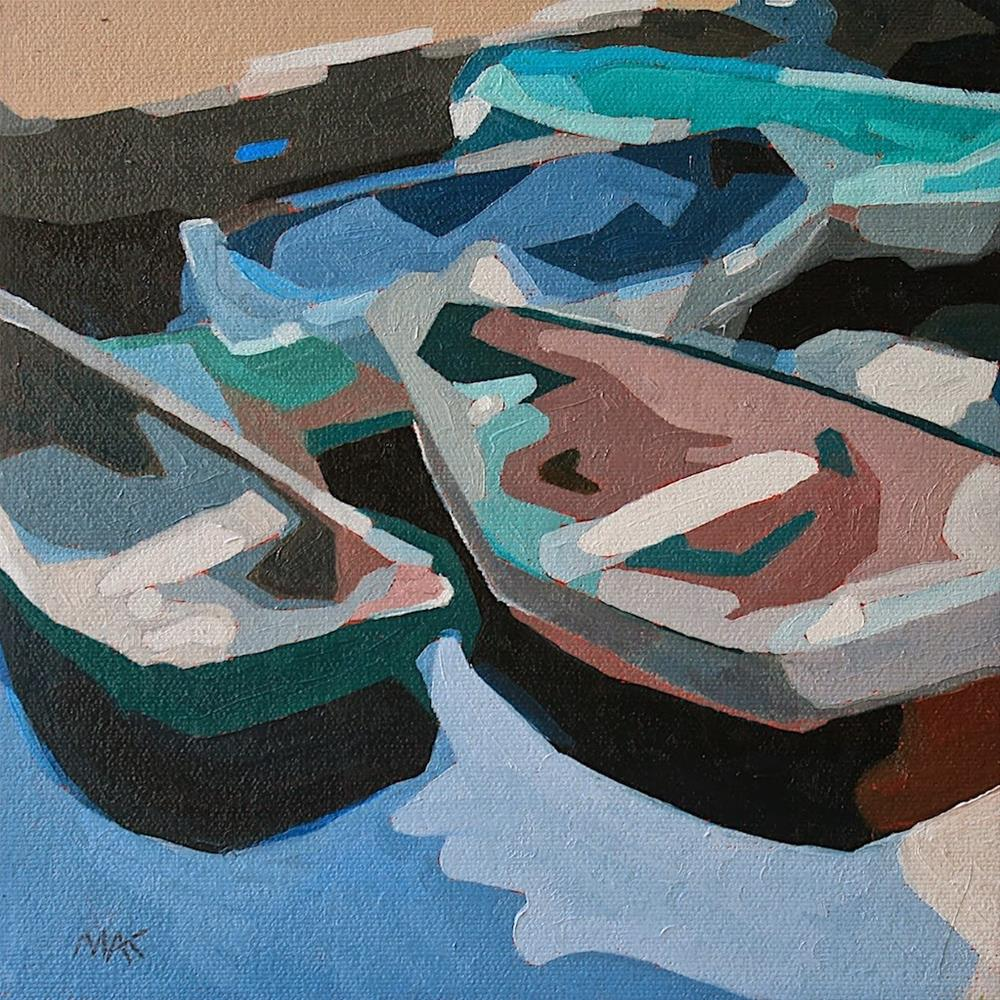 """Abstract Boats 2"" original fine art by Mary Anne Cary"