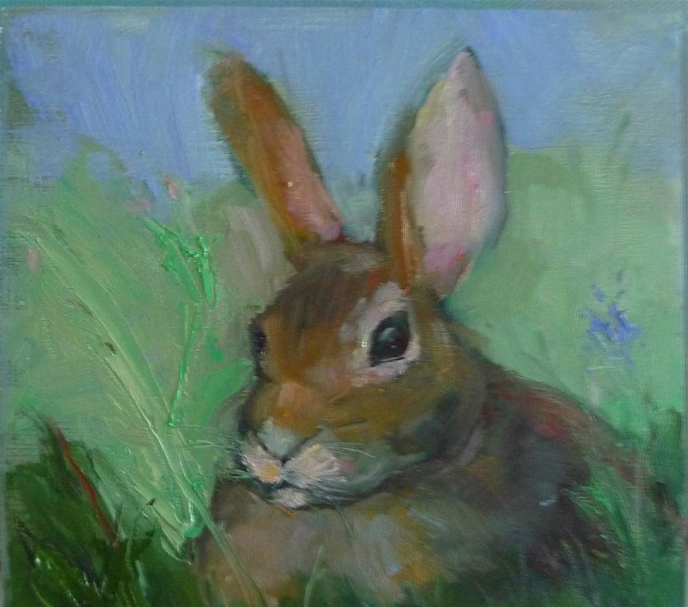 """Waiting for Easter"" original fine art by Carol Josefiak"