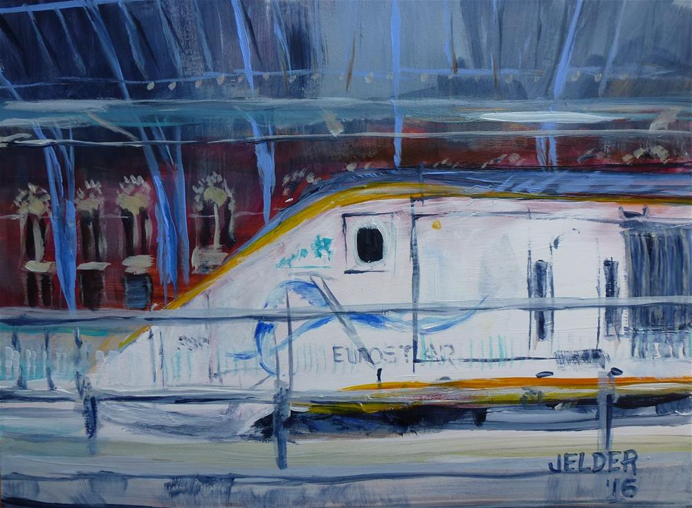 """Eurostar"" original fine art by Judith Elder"