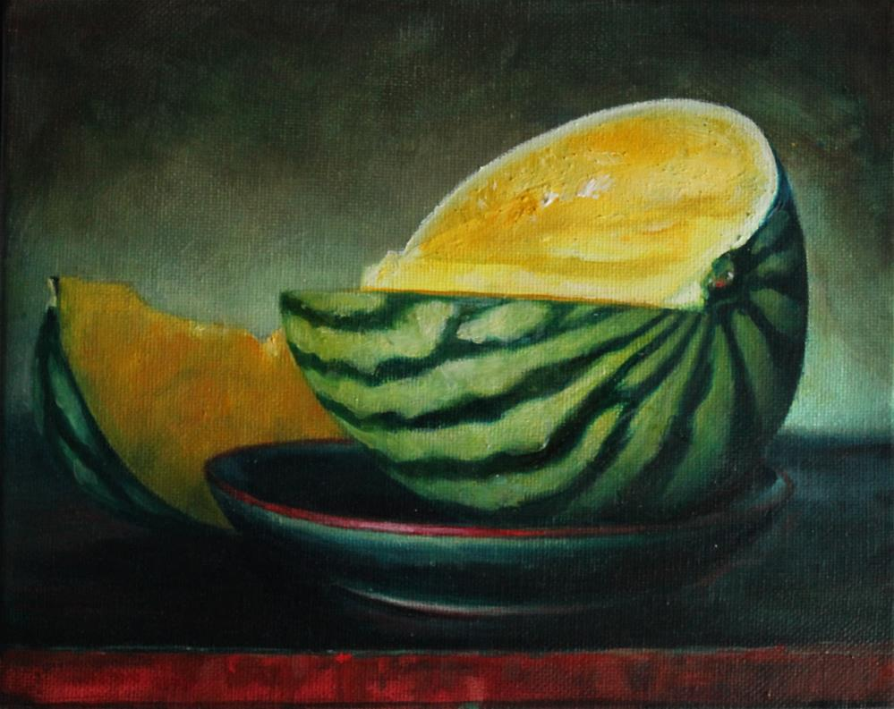"""Yellow Watermelon"" original fine art by Chloe Madoc"