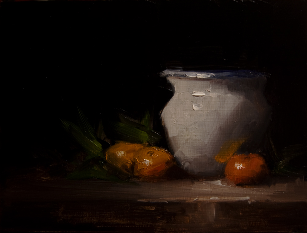 """Large Pot"" original fine art by Neil Carroll"