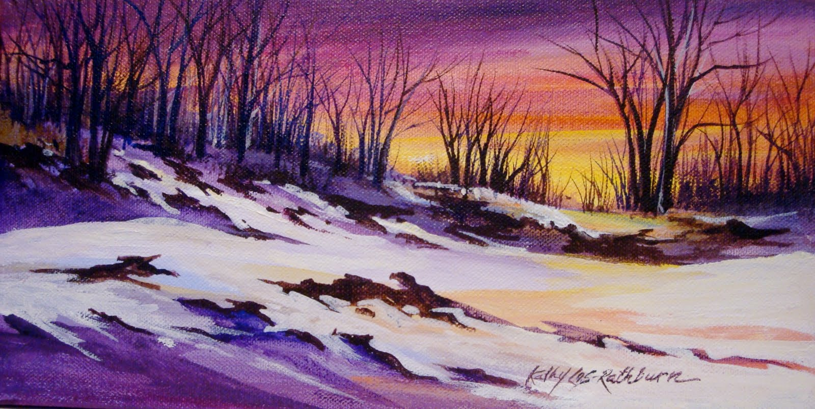 """Sunset Dunes"" original fine art by Kathy Los-Rathburn"