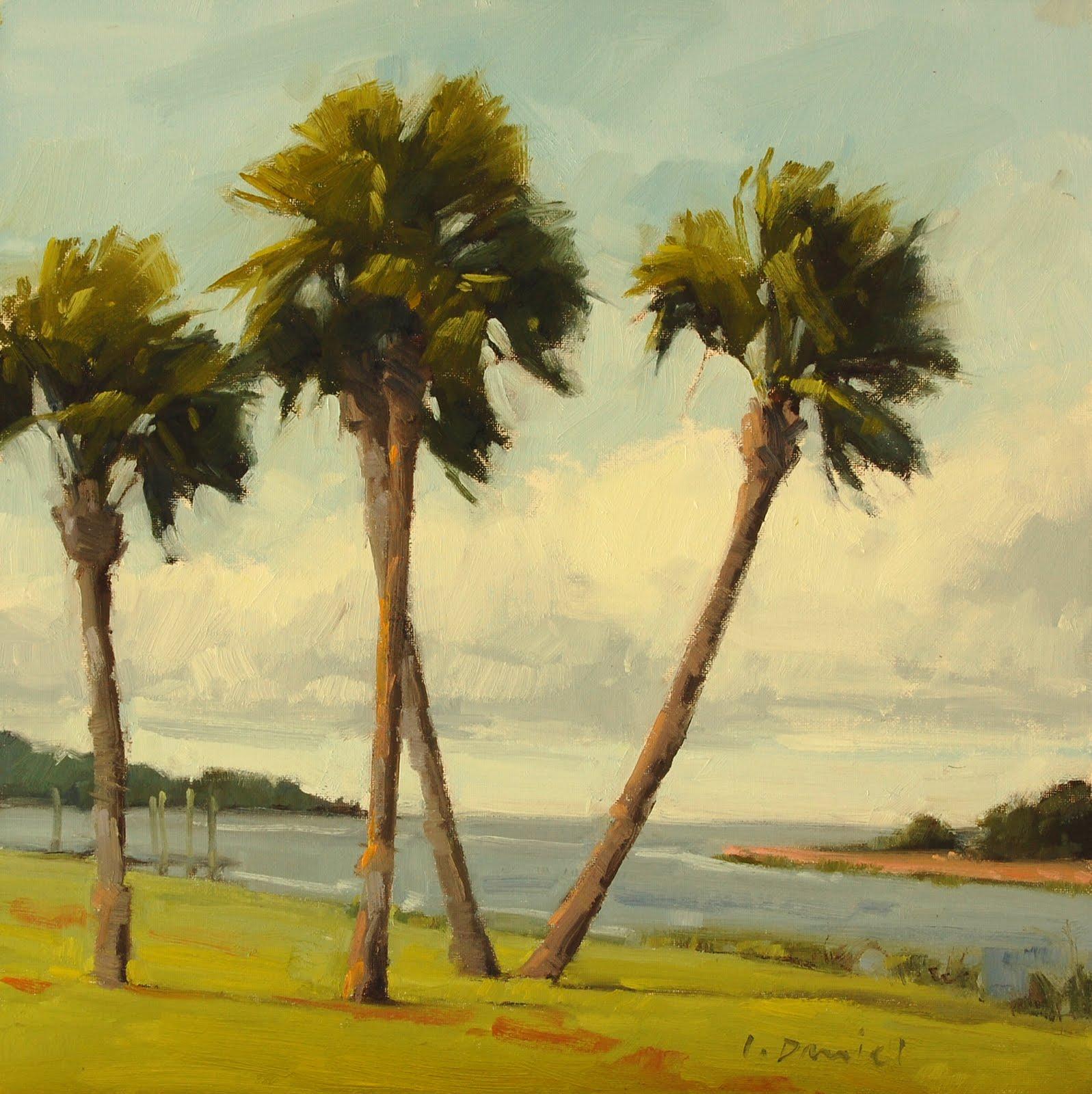 """Gateway of Palms"" original fine art by Laurel Daniel"