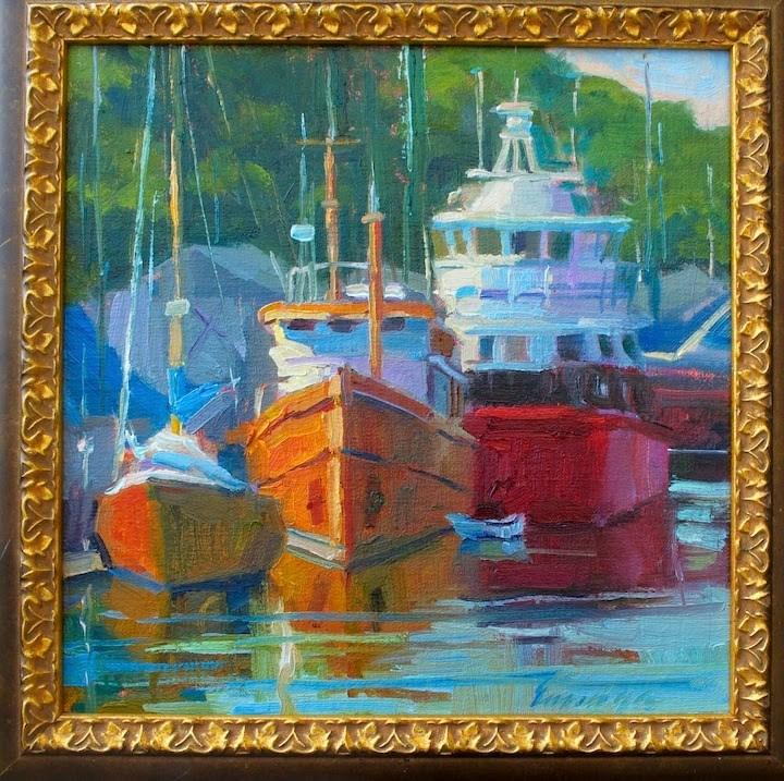 """""""Paint the Peninsula"""" original fine art by Emiliya Lane"""