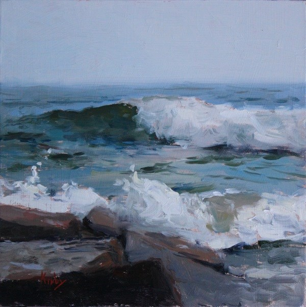 """Crashing Sea"" original fine art by Randall Cogburn"