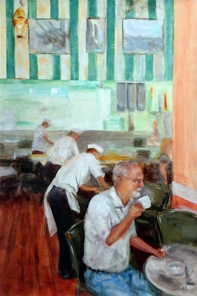 """At The Cafe DuMonde New Orleans Louisiana"" original fine art by Dalan Wells"