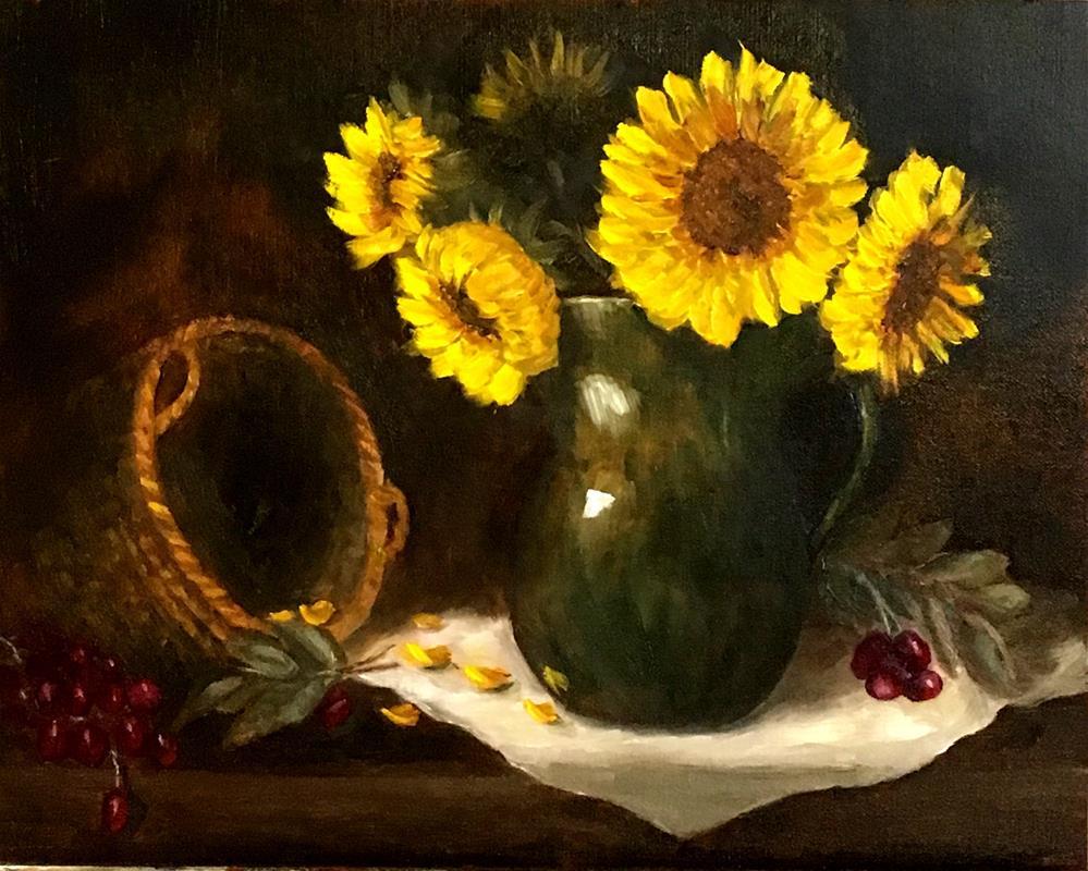 """Sunflowers"" original fine art by Mary Datum"