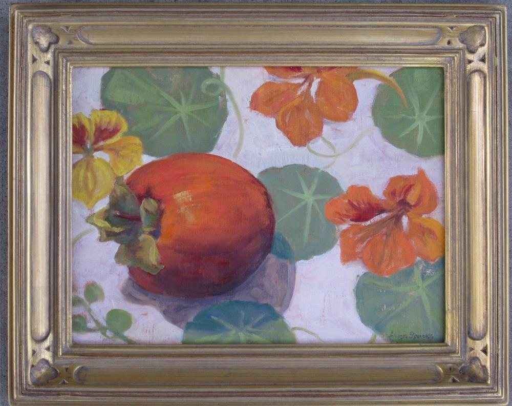 """Persimmon"" original fine art by Leigh Alexandra Sparks"