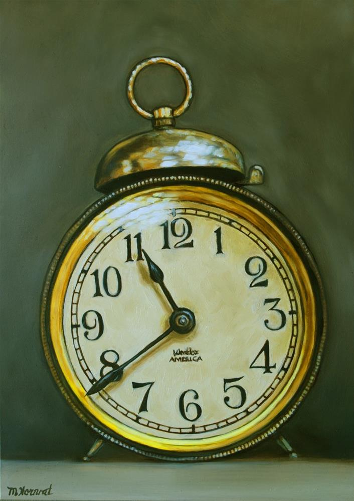 """Tick Tock Alarm Clock"" original fine art by Margaret Horvat"