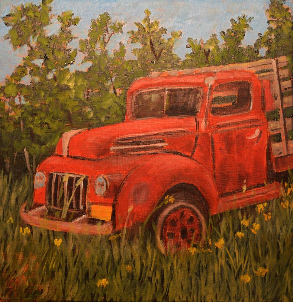 """Tow Truck in Need of a Tow"" original fine art by Robert Frankis"