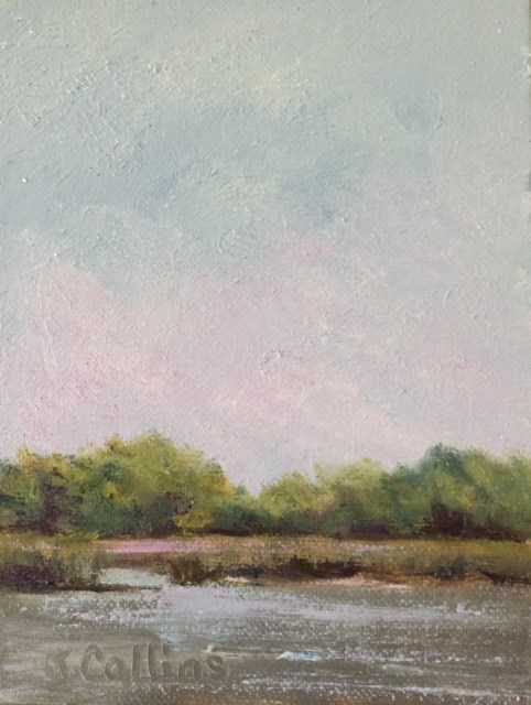 """View from the Dock"" original fine art by Kathy Collins"