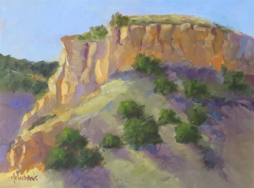 """Roadside Cliffs"" original fine art by Pam Holnback"
