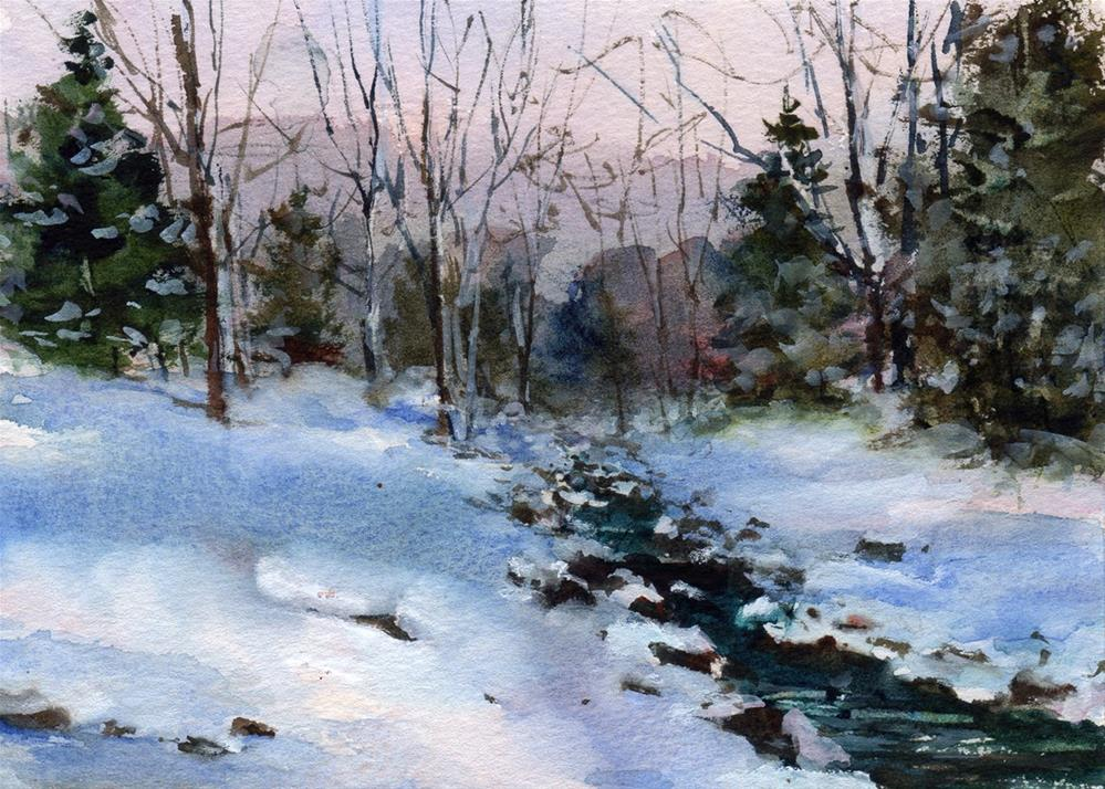"""A Winter Wonderland"" original fine art by Linda Henry"