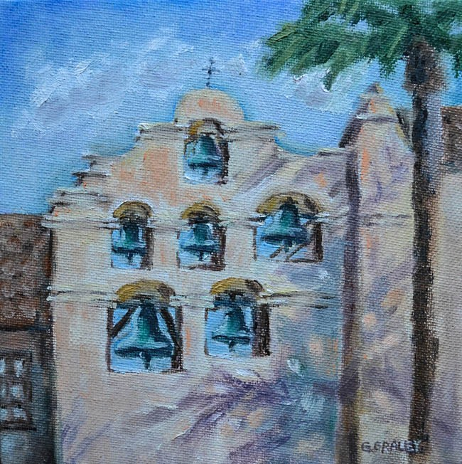 """San Gabriel Mission"" original fine art by Geri Graley"