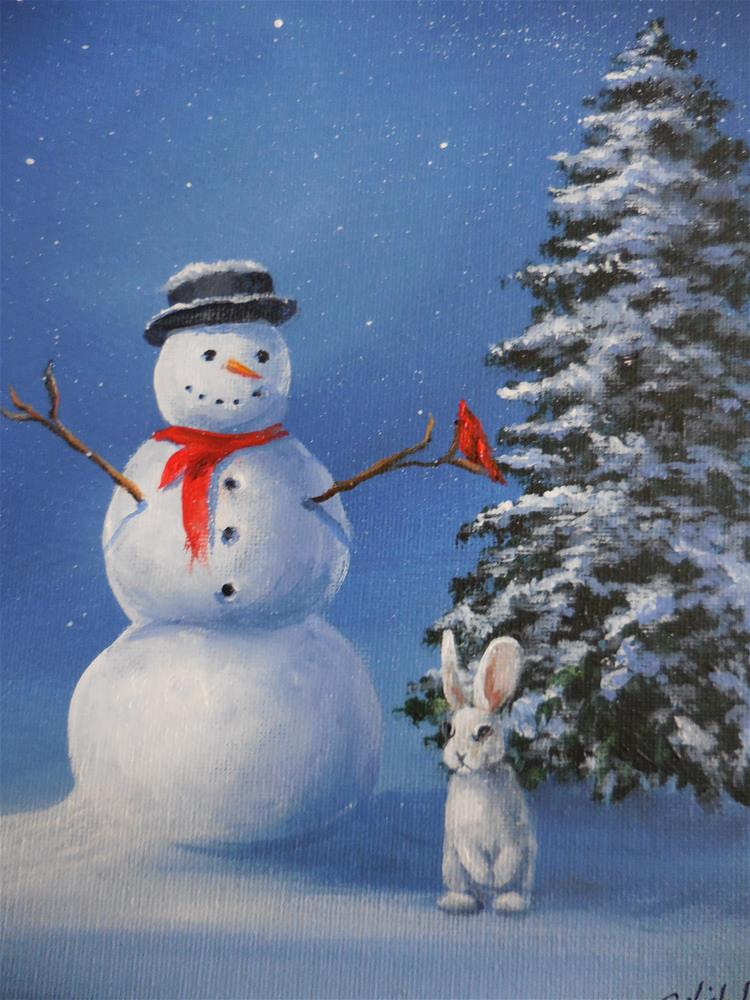 """Let It Snow!"" original fine art by Terri Nicholson"