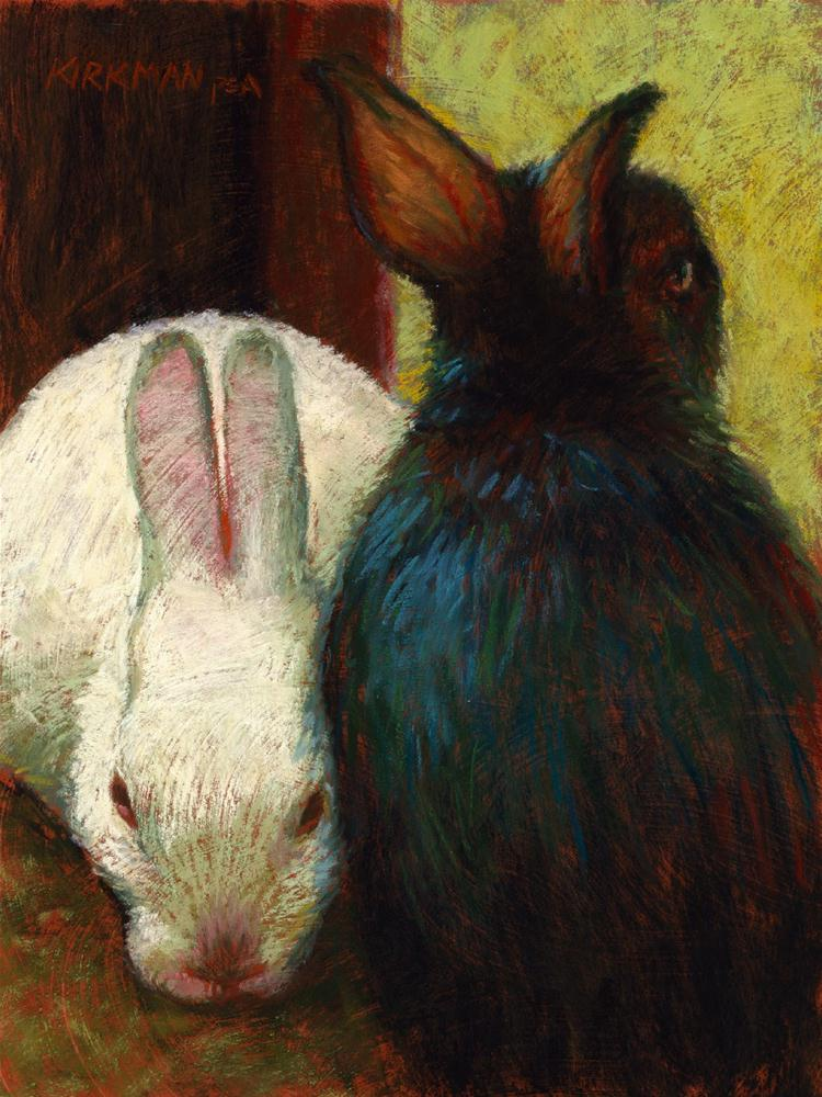 """White and Black"" original fine art by Rita Kirkman"