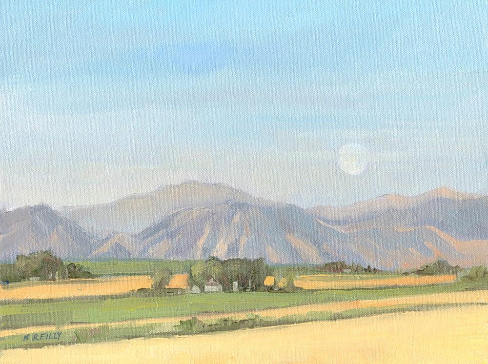 """Moonset"" original fine art by Kath Reilly"