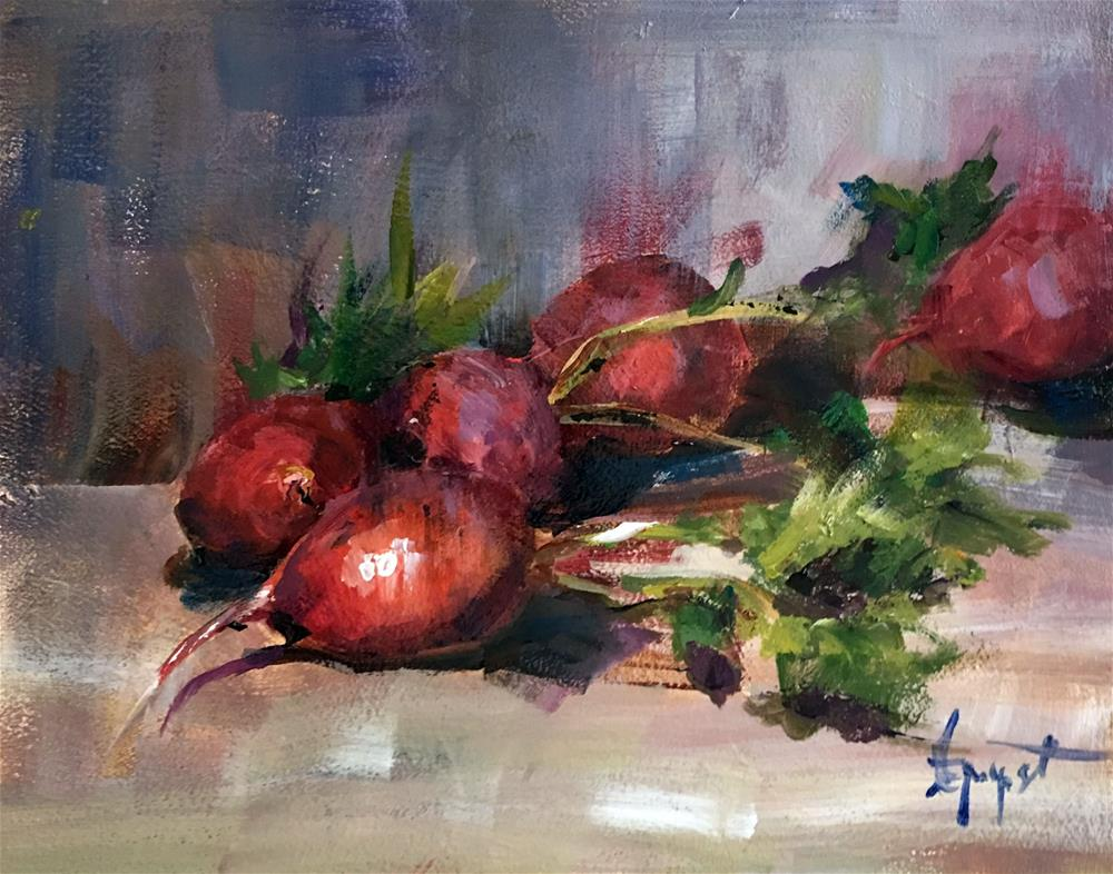"""Radish"" original fine art by Anne Marie Propst"