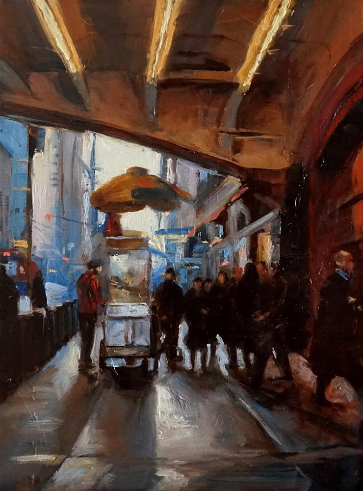 """Outside of Grand Central Station"" original fine art by Jonelle Summerfield"